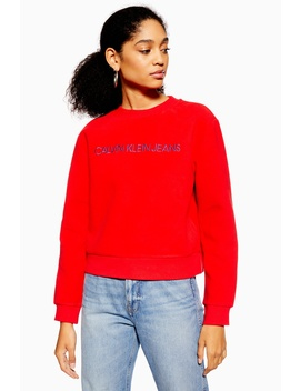 Fleece Sweatshirt By Calvin Klein by Topshop