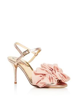 Women's Reia Leather & Organza Slingback High Heel Sandals by Charlotte Olympia
