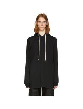 Black T Shirt Hoodie by Rick Owens