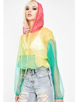 Bae Spectrum Organza Hoodie by Hot Delicious