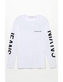 Calvin Klein Backprint Long Sleeve T Shirt by Pacsun