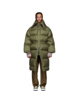 Green Down Long Coat by Acne Studios