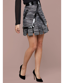 Naomi Metallic Tweed Skirt by Bebe