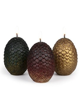 "Game Of Thrones Sculpted Dragon Egg Candles, Set Of 3   Perfect For Go T Fans   2 1/2"" Each by Game Of Thrones"