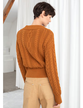 Cable Knit Cardigan by & Other Stories