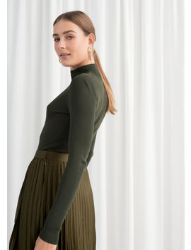 Fitted Micro Knit Turtleneck by & Other Stories