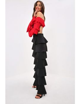 Black Ruffle Trousers by I Saw It First