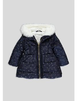 Girls Bow Print Padded Coat (6mths 6yrs) by Matalan