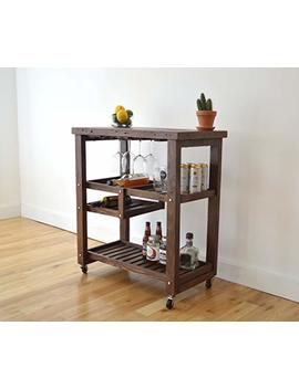 Reclaimed Wood Bar Cart by Amazon