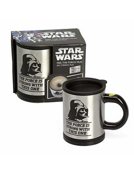 Star Wars Darth Vader 12 Oz. Stainless Steel Self Stirring Travel Mug   Mix Your Drink With The Force by Star Wars