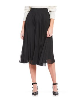 Anna Pleated Midi Skirt by Gianni Bini