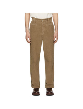 Taupe Corduroy Fisherman Trousers by Loewe