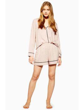 Pink Jacquard Star Pyjama Shorts by Topshop