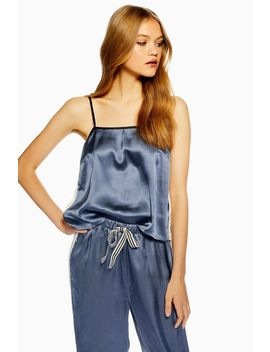 Colour Block Satin Cami Top by Topshop