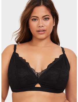 Black Lace Keyhole Bralette by Torrid