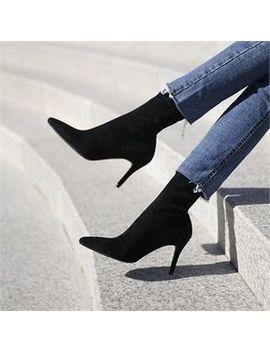 Monobarbi   Pointy Toe High Heel Booties by Monobarbi