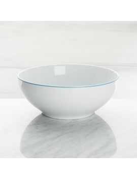 Aspen Aqua Band Serving Bowl by Crate&Barrel