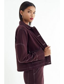 Uo Damson Contrast Stitch Utility Jacket by Urban Outfitters