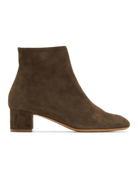 Brown Suede Ankle Boots by Mansur Gavriel