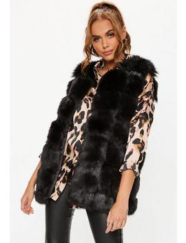 Black Longline Bubble Gilet by Missguided