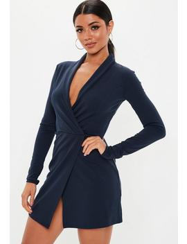 Tall Navy Blazer Dress by Missguided