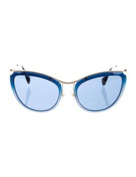 Tinted Aviator Sunglasses by Miu Miu