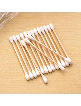 Star Secsip 1000 Pcs Long Wooden Cotton Swabs Cleaning Sterile Sticks With Wood Handle For Oil Makeup Gun Applicators Eye Ears Eyeshadow Brush And Remover Tool For Baby And Home by Star Secsip