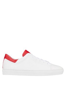 White & Red Lace Up Sneakers by J. Lindeberg