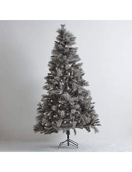 6 Ft Silver Glittered Tipped Christmas Tree by Dunelm