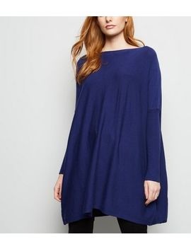 Apricot Blue Soft Touch Oversized Jumper by New Look