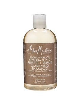Shea Moisture Sacha Inchi Oil Omega 3, 6, 9 Rescue + Repair Clarifying Shampoo   13oz by Shea Moisture