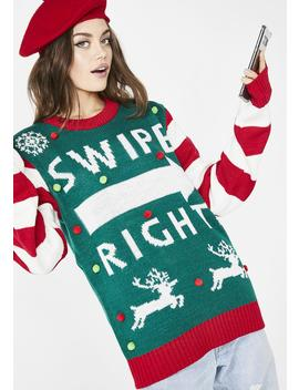 Always Swiping Right Sweater by American Stitch