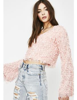 Whatz My Name Fringe Sweater by Clara Story