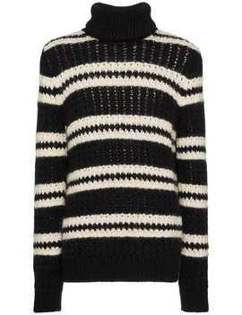 Striped Turtleneck Sweater by Saint Laurent