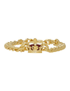 Gold Crown Chain Bracelet by Dolce & Gabbana