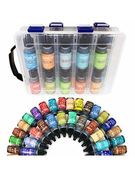 20x Tim Holtz Alcohol Ink .5oz Bottles (Assorted Colors), Pixiss Alcohol Ink Storage Carrying Case Organizer, Stores 20x 0.5 Ounce Bottles Of Alcohol Ink, Stickles, Glossy Accents Or Reinkers by Grand Products