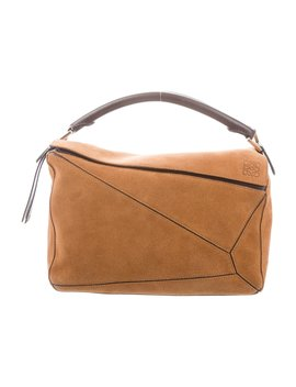 Suede Medium Puzzle Bag by Loewe