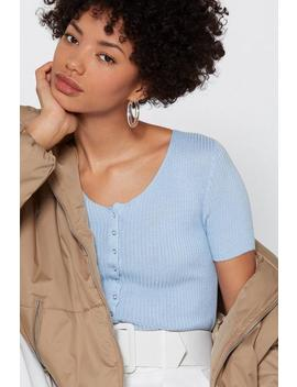 Snaps For You Ribbed Top by Nasty Gal