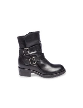 Maria Black Leather by Steve Madden
