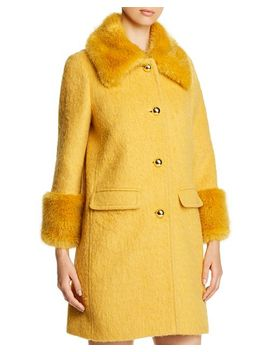 Faux Fur Collar Coat by Kate Spade New York