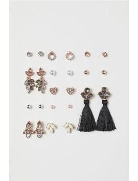 12 Pairs Stud Earrings by H&M