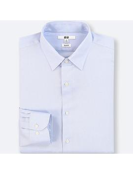 Men Easy Care Stretch Slim Fit Oxford Shirt (Regular Collar) by Uniqlo