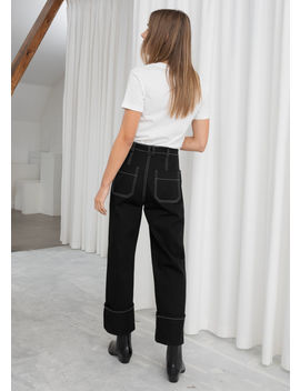 Cotton Twill Workwear Trousers by & Other Stories