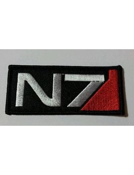 N7 Mass Effect Patch   Iron On 3.5 Inch Patch by Etsy