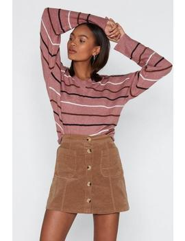Straight Up Striped Sweater by Nasty Gal