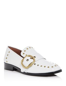 Women's Alexa Studded Leather Buckle Loafers by Coach