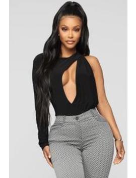 Open Me Up Bodysuit   Black by Fashion Nova