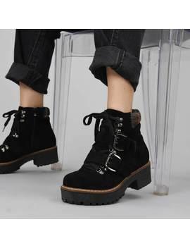 Forge Tartan Collar Boots by Koi Footwear
