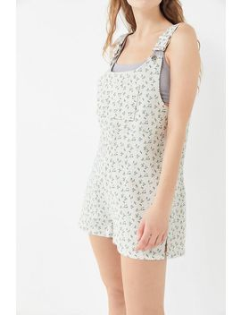 Uo Laura Floral Shortall Overall by Urban Outfitters