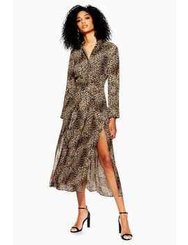 Petite Animal Midi Shirt Dress by Topshop